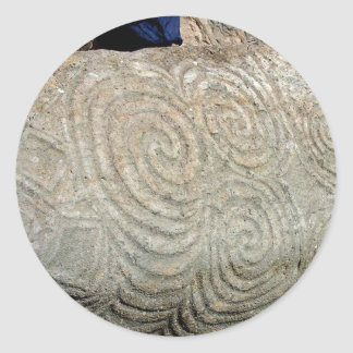 Celtic Symbols from Newgrange Ireland Classic Round Sticker