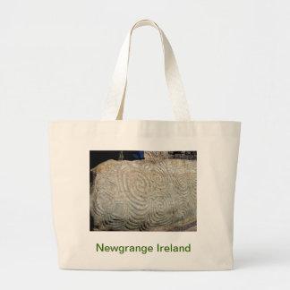 Celtic Symbols from Newgrange Ireland Large Tote Bag