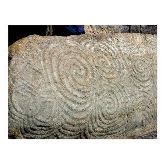 Celtic Symbols from Newgrange Ireland Postcard