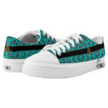 Celtic Teal With Black Lace Low-Top Sneakers