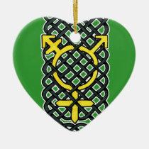 Celtic Transgender Ornament Yellow