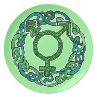 Celtic Transgender Symbol Plate