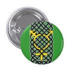 Celtic Transgender Symbol Yellow 1 Inch Round Button