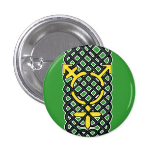 Celtic Transgender Symbol Yellow Buttons