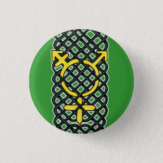 Celtic Transgender Symbol Yellow Pinback Button