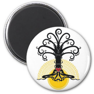 Celtic tree 2 inch round magnet