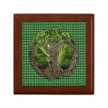 Celtic Tree And Ancient Clan MacDonald Isles Keepsake Boxes