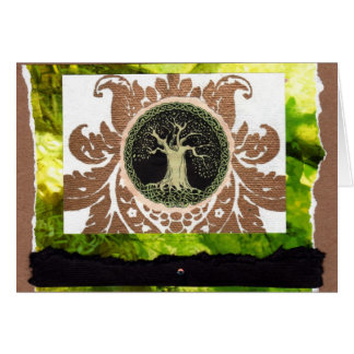 Celtic Tree Collage Card