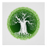 Celtic Tree (Green) Poster