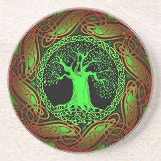 Celtic Tree (Illuminated version) Coaster