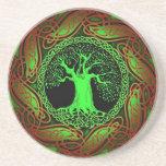 Celtic Tree (Illuminated version) Drink Coaster