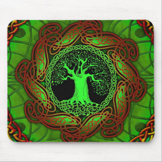 Celtic Tree (Illuminated version) Mouse Pad