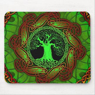 Celtic Tree (Illuminated version) Mouse Pad