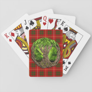 Celtic Tree Of Life And Clan Bruce Tartan Playing Cards