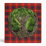 Celtic Tree Of Life And Clan Fraser Tartan Binder