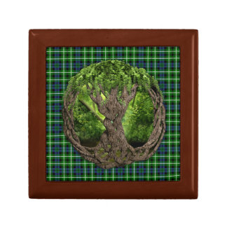 Celtic Tree Of Life And Clan Graham Tartan Jewelry Box