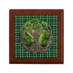 Celtic Tree Of Life And Clan Graham Tartan Jewelry Box