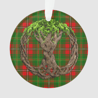 Celtic Tree Of Life And Clan Hay Tartan Ornament
