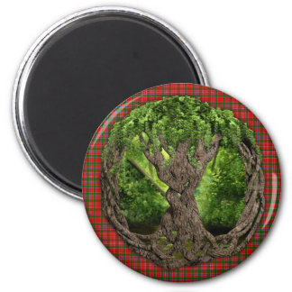 Celtic Tree Of Life And Clan MacAlister Tartan Magnet