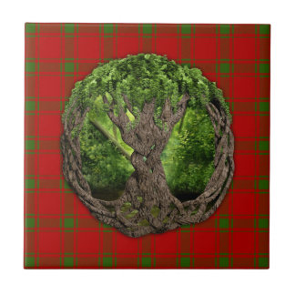Celtic Tree Of Life And Clan MacDonald Of Sleat Tile