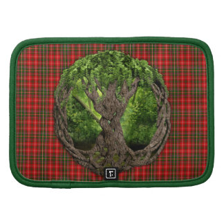 Celtic Tree Of Life And Clan MacDougall Tartan Organizer