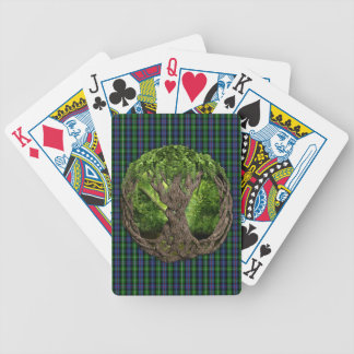 Celtic Tree Of Life And Clan MacKenzie Tartan Bicycle Playing Cards