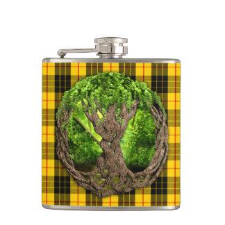 Celtic Tree Of Life And Clan MacLeod Tartan Flasks
