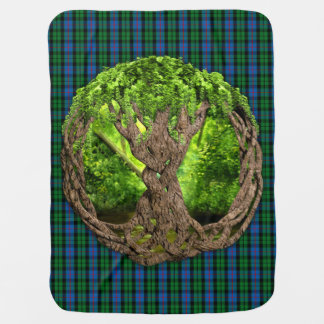 Celtic Tree Of Life And Clan Morrison Tartan Baby Blanket