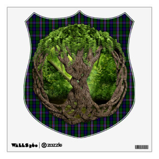 Celtic Tree Of Life And Scottish National Tartan Wall Sticker