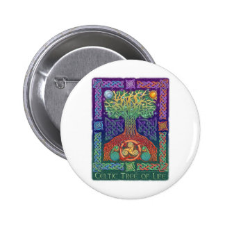 Celtic Tree of LIfe 2 Inch Round Button