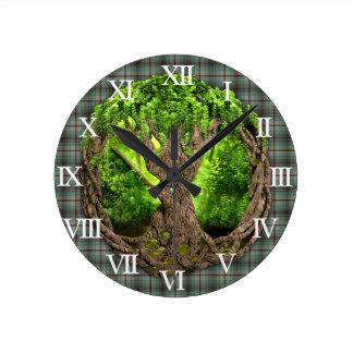 Celtic Tree Of Life Clan Craig Round Clock