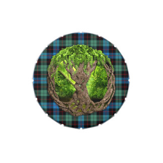 Celtic Tree Of Life Clan Guthrie Tartan Jelly Belly Tin