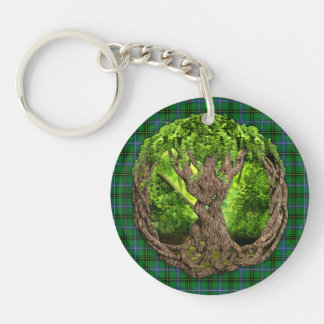 Celtic Tree Of Life Clan Henderson Keychain