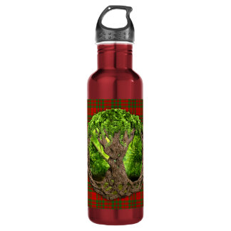 Celtic Tree Of Life Clan Livingstone Tartan Stainless Steel Water Bottle