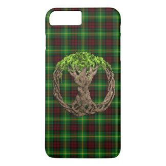 Celtic Tree Of Life Clan Martin Tartan iPhone 7 Plus Case
