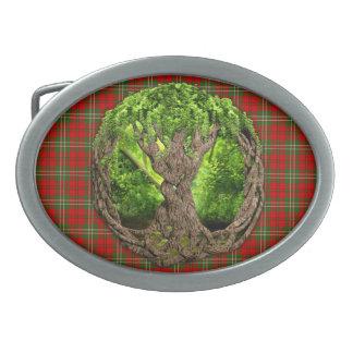 Celtic Tree Of Life Clan Scott Tartan Belt Buckle