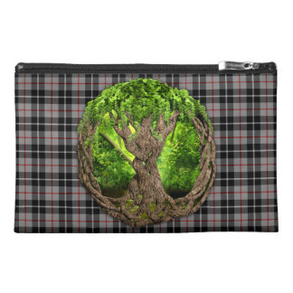 Celtic Tree Of Life Clan Thompson Tartan Travel Accessory Bag