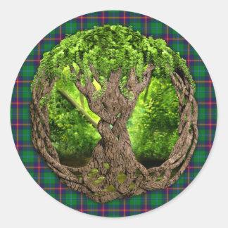 Celtic Tree Of Life Clan Young Tartan Sticker
