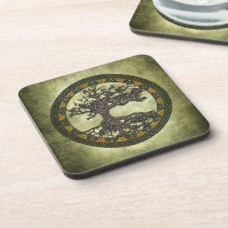 Celtic Tree of Life Beverage Coasters