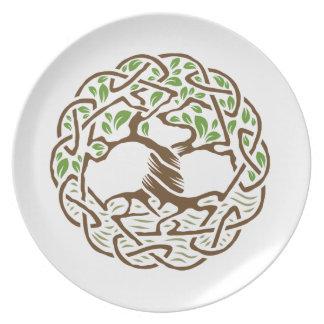 Celtic Tree of Life Dinner Plate