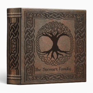 Celtic Tree of Life Embossed Leather Binder