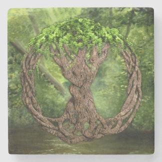 Celtic Tree Of Life Stone Beverage Coaster
