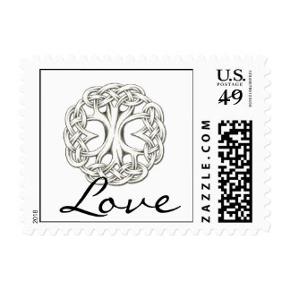 Celtic Tree of Life Love Postage Stamp