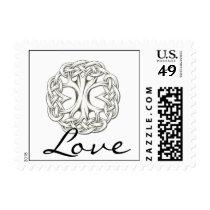 Celtic Tree of Life Love Postage Stamp