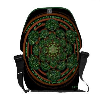 Celtic Tree of Life Mandala Messenger Bag