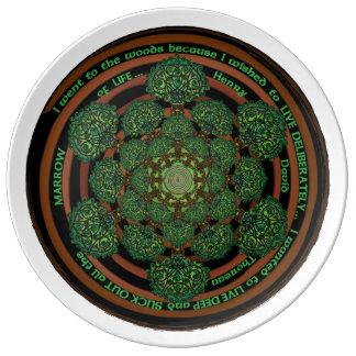 Celtic Tree of Life Mandala Porcelain Plate