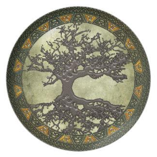 Celtic Tree of Life Melamine Plate