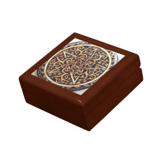 Celtic Tree of Life Pentacle Jewelry Box