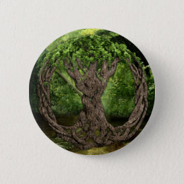 Celtic Tree Of Life Pinback Button