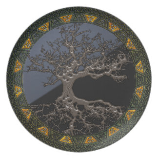 Celtic Tree of Life Plate